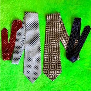 Tommy Hilfiger set of 2 silk ties